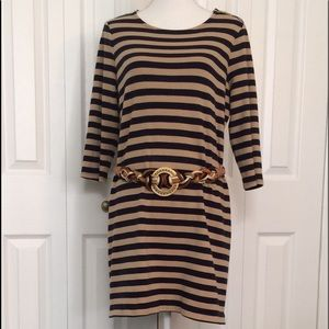 Dresses & Skirts - Tan and Navy Fall Dress
